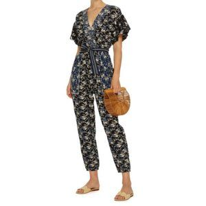 Ulla Johnson Reiko Cotton Jumpsuit in Indigo Blue